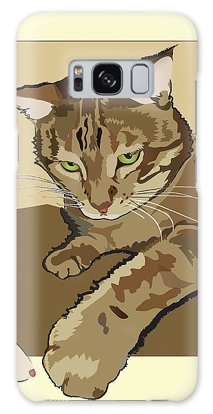 Ginger Peach Bengal Kitty Galaxy Case