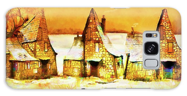 Gingerbread Cottages Galaxy Case