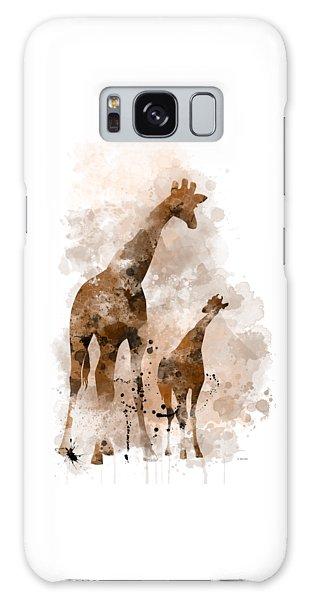 Giraffe And Baby Galaxy Case
