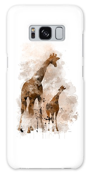 Giraffe And Baby Galaxy Case