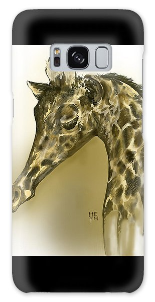Giraffe Contemplation Galaxy Case