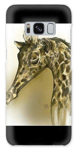 Giraffe Contemplation Galaxy Case