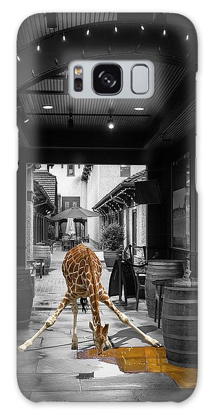 Giraffe Drinking Whiskey Series 4987y Galaxy Case