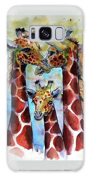 Giraffe Family Galaxy Case by Kovacs Anna Brigitta