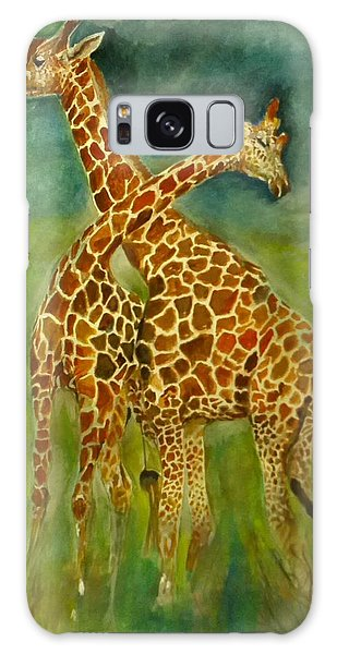Lovely Giraffe . Galaxy Case by Khalid Saeed
