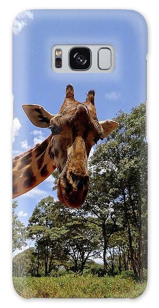 Giraffe Getting Personal 4 Galaxy Case