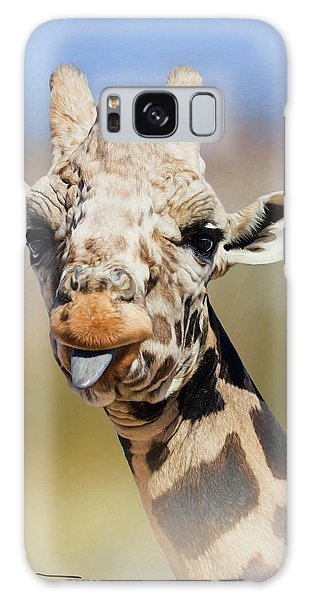 Giraffe Giving The Raspberry Galaxy Case