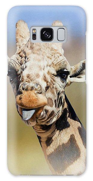 Giraffe Giving The Raspberry Galaxy Case