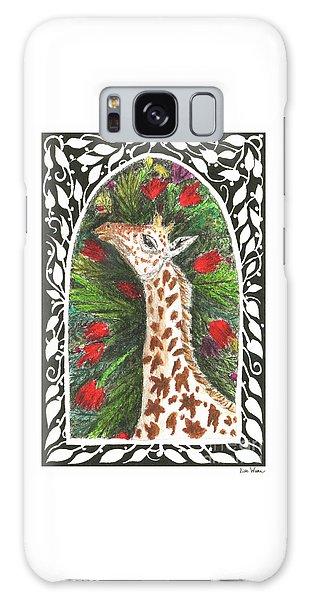 Giraffe In Archway Galaxy Case