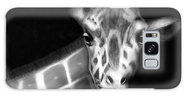 Giraffe In Black And White Galaxy Case