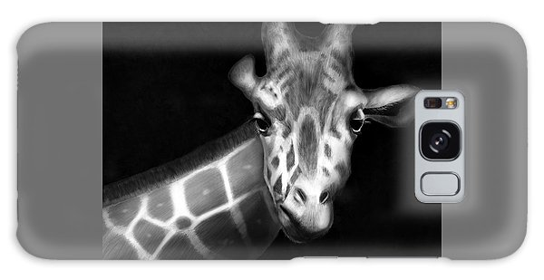 Giraffe In Black And White Galaxy Case