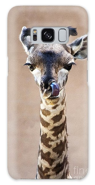 Giraffe Lick Galaxy Case