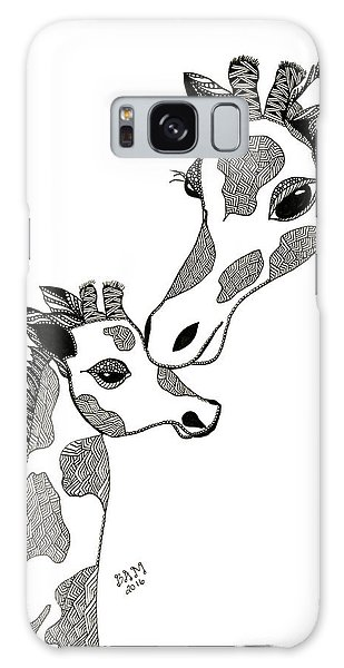 Giraffe Mom And Baby Galaxy Case
