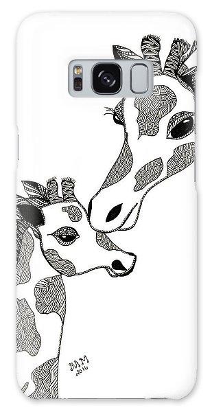 Giraffe Mom And Baby Galaxy Case