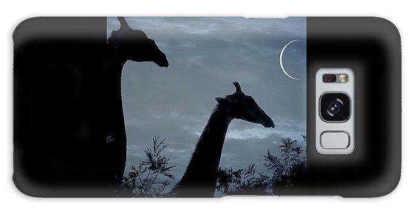 Giraffe Moon  Galaxy Case