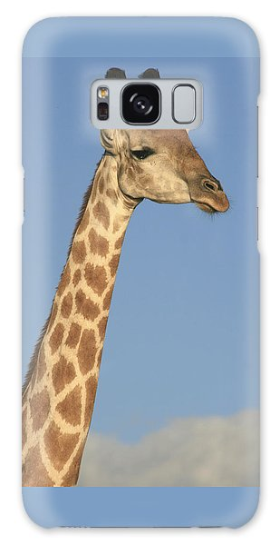 Giraffe Portrait Galaxy Case