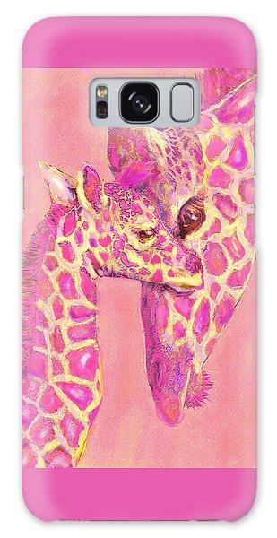Giraffe Shades- Pink Galaxy Case by Jane Schnetlage