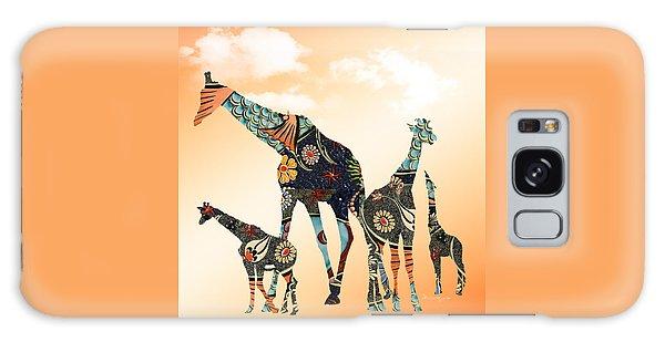 Giraffe Stroll Galaxy Case