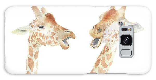 Giraffe Watercolor Galaxy Case by Taylan Apukovska