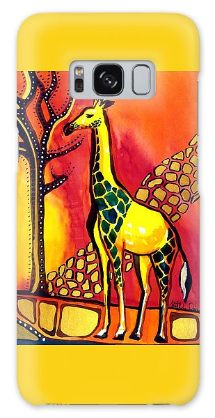 Giraffe With Fire  Galaxy Case