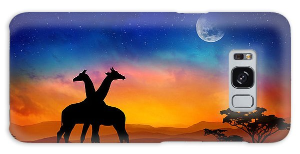 Giraffes Can Dance Galaxy Case