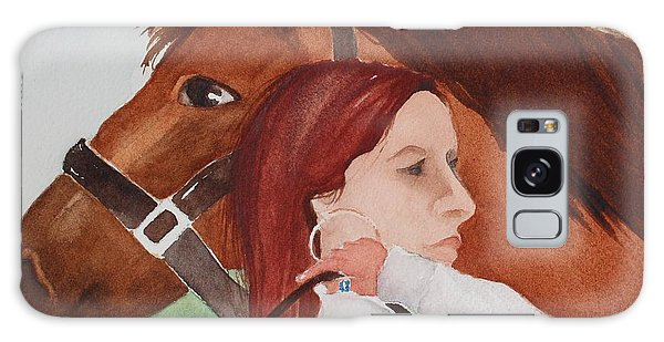 Girl And Her Horse Galaxy Case