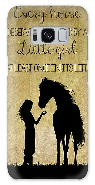 Girl And Horse Silhouette Galaxy Case
