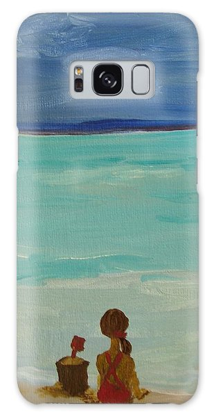 Girl And The Beach Galaxy Case by Joseph Hawkins