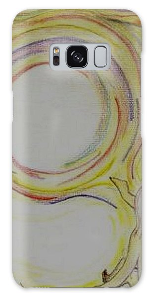 Girl And Universe Creative Connection Galaxy Case
