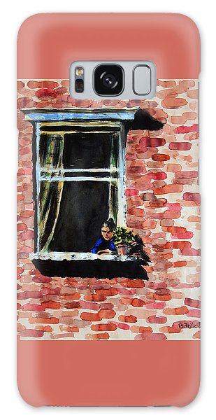 Girl At Window Galaxy Case