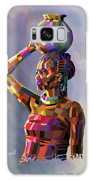 Girl Carrying Water Galaxy Case by Anthony Mwangi
