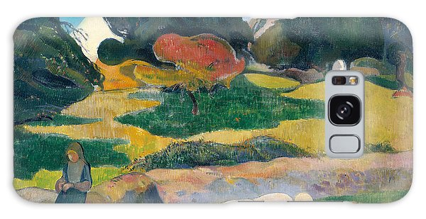 Girl Herding Pigs Galaxy Case by Paul Gauguin