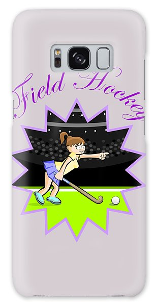 Girl Hockey Field Player In A Design With Text Galaxy Case