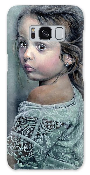 Girl In Lace Galaxy Case