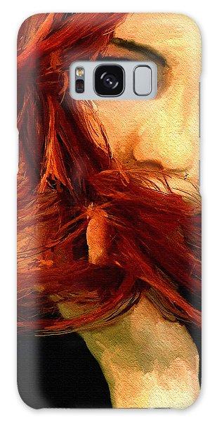Girl Portrait 08 Galaxy Case by James Shepherd