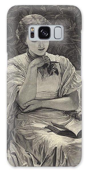 Beautiful Girl Galaxy Case - Girl Reading by Charles Edward Perugini