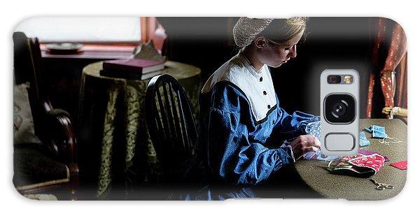 Girl Sewing Galaxy Case