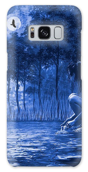 Girl Washing At The River Galaxy Case by Diane Schuster