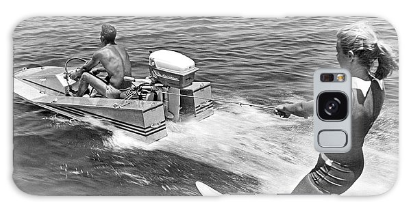 Powerboat Galaxy Case - Girl Water Skiing by Underwood Archives