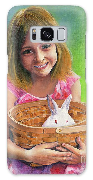 Girl With A Bunny Galaxy Case by Jeanette French