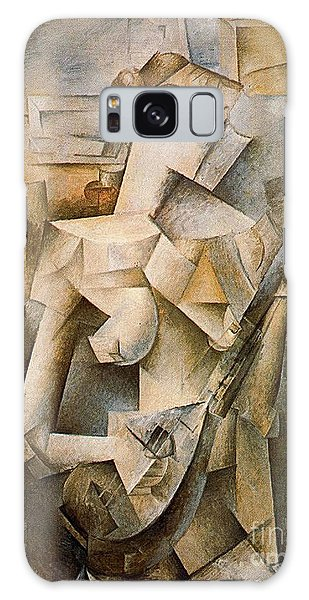 Girl With A Mandolin Galaxy Case by Picasso