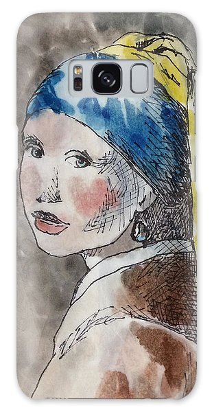 Girl With A Pearl Earring Galaxy Case - Girl With A Pearl by Alexandra Yakovleva Art