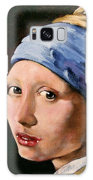 Girl With A Pearl Earring Galaxy Case - Girl With A Pearl Earring A Reproduction Of Vermeer by Joan Garcia