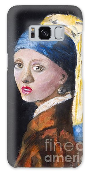 Girl With A Pearl Earring Galaxy Case - Girl With A Pearl Earring After Johannes Vermeer By Marilyn Nolan-johnson by Marilyn Nolan-Johnson