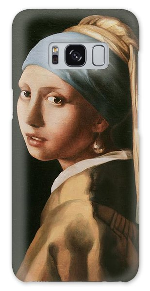 Girl With A Pearl Earring - After Vermeer Galaxy Case