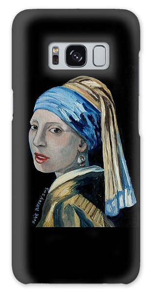 Girl With A Pearl Earring Galaxy Case - Girl With The Pearl Earring -inspired By Johannes Vermeer by Julie Brugh Riffey