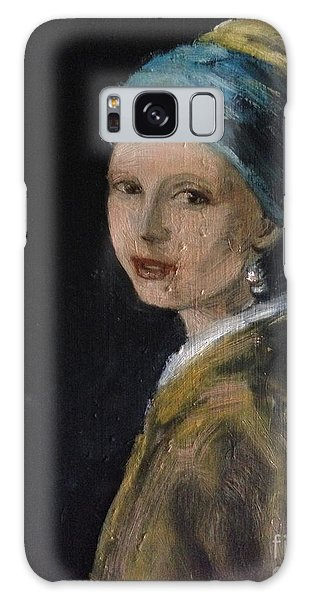 Girl With A Pearl Earring Galaxy Case - Girl With A Pearl Earring Variation  by Lavender Liu