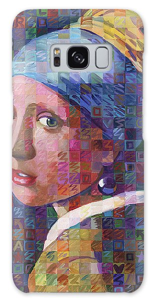 Girl With A Pearl Earring Galaxy Case -  Girl With A Pearl Earring Variation No. 3 by Randal Huiskens