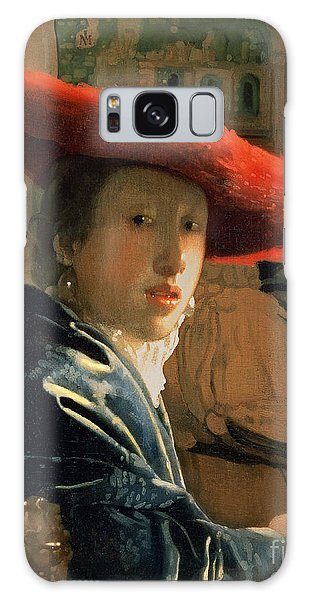 Jan Vermeer Galaxy Case - Girl With A Red Hat by Jan Vermeer
