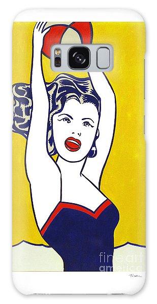 Girl With Ball - Pop Art - Roy Lichtenstein Galaxy Case
